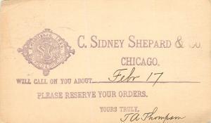 Chicago Illinois~Sidney-Shepard & Co (Tinware, Aluminum Ware) Postal 1903