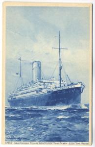 Araguaya Ocean Cruising Steamer Twin - Screw Royal Mail Postcard
