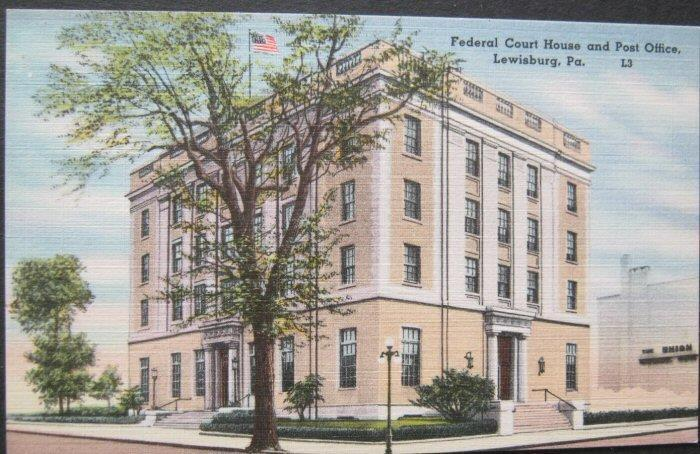 Federal Court House and Post Office Lewisburg PA -linen-