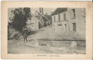 Dormans - Quai Voltaire Le Deley Paris France Vintage French Postcard Vintage