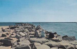 Relaxing on Breakwaters at Galilee RI, Rhode Island