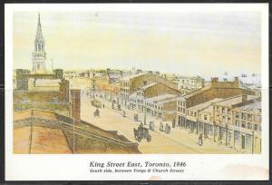 Canada, Toronto, Ontario, King Street East, 1846, unused