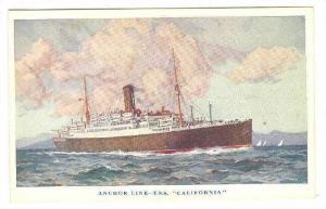 Anchor Line, T.S.S. California, Ocean Liner, 10-20s