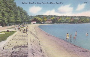 Bathing Beach At State Park St Albans Bay Vermont