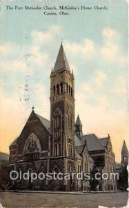 Churches Vintage Postcard Canton, OH, USA Vintage Postcard First Methodist Ch...