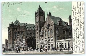 Postcard NJ Newark 1908 View Broad Street from Park R07
