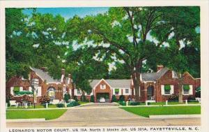 North Carolina Fayetteville Leonards Motor Court