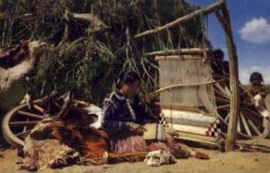 Navaho Rug Weaver Indian Postcard Post Cards  Navaho Rug Weaver
