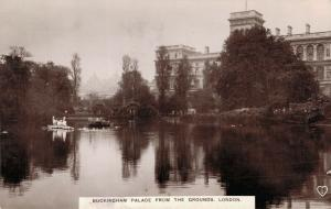 UK Buckingham Palace From the Grounds London REAL PHOTO 01.63