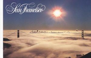 Golden Gate Bridge In Fog San Francisco California