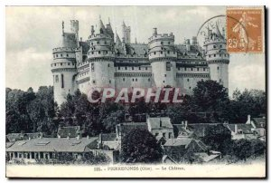 Postcard Old Chateau Pierrefonds Oise