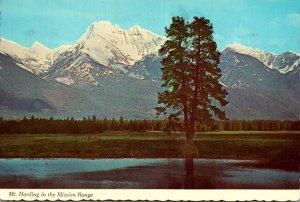 Montana Glacier National Park Mount Harding In The Mission Range 1979