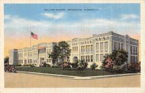 Bradenton Florida Ballard School Street View Antique Postcard K95941
