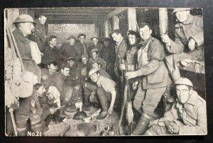 Mint Australia Postcard RPPC Australian Troops Living In Some Vaults WWI