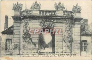Old Postcard Vitry le Francois door inner side deck