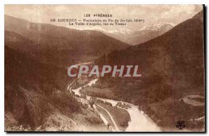 Old Postcard The Pyrenees Lourdes Funicular of the Pic du Jer The Argeles Val...