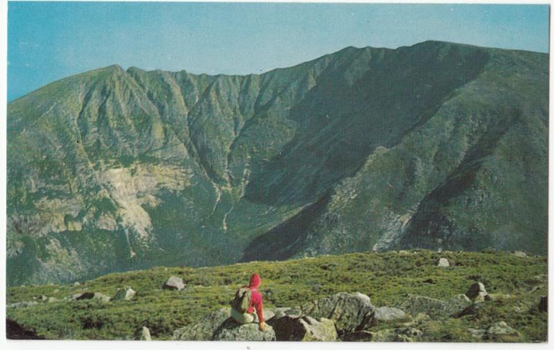 Mt. Katahdin, highest peak in Maine, unused Postcard