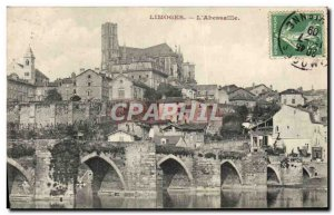 Old Postcard Limoges L & # 39Abessaille