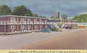 Kentucky Corbin Stewarts Motel And Restaurant U S
