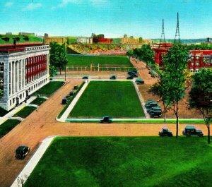 Minneapolis Uniiversity of Minnesota MN Buildings Stadium UNP Linen Postcard