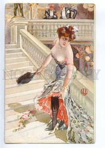 244355 ART NOUVEAU Lady OPERA House by LU Old Kleine Witzblatt