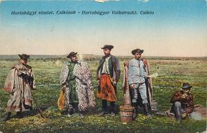 Hungarian types folk costumes Hortobagyi Csikosok Csikos Hortobagyer Hungary