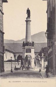 La Fontaine Des Elephants (de Boigne), Chambery (Savoie), France, 1900-1910s