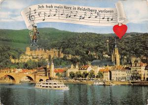Heidelberg Partie am Neckar Bridge River Boats Schiff Bruecke Kirche
