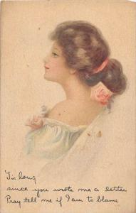 9833  Victorian  woman in Night gown