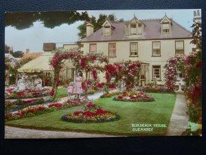 Channel Isle GUERNSEY Bordeaux House & Rose Arch c1950s RP Postcard Norman Grut