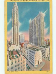 Linen ROCKEFELLER CENTER BUILDING New York City NY W5210