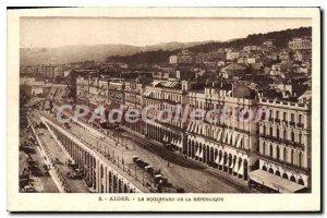 Old Postcard Algiers Boulevard De La Republique