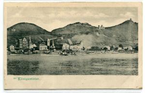 Königswinter Panorama North Rhine Westphalia Germany 1905c postcard