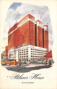 Chicago Illinois~Palmers House~1955 Postcard