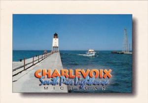 Charlevoix South Pier Lighthouse Charlevoix Michigan