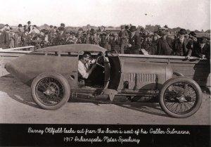 IN - Indianapolis Motor Speedway. Barney Oldfield, Golden Submarine, 1917  ...