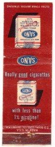 Sano cigarette matchbook cover