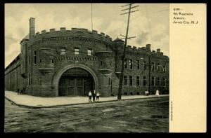 4th Regiment Armory, Jersey City, New Jersey. Vintage postcard