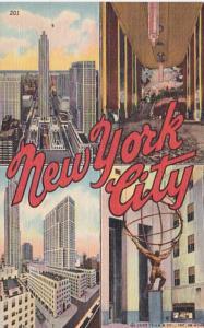 New York City Rockefeller Center Multi View Curteich