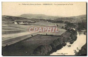 Old Postcard Valley Of The Cure And The Cousin Sermizelles Panoramic De La Va...