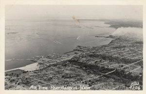RP: PORT ANGELES , Washington , 1930-40s ; Air View, ELLIS 4206