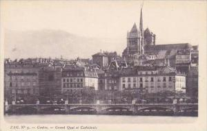 Switzerland Geneve Grand Quai de Cathedrale