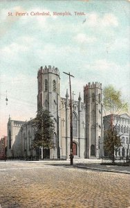 MEMPHIS, TN Tennessee   ST PETER'S CATHEDRAL~Church   1908 Postcard