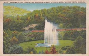 Southern Railway Train At Andrews Geyser Fountain At Round Knob Western North...