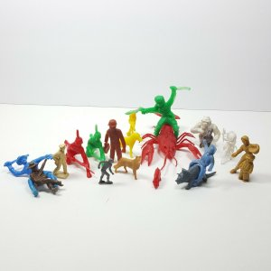 Collection Vintage Plastic Toys Military Animal Native American Indian Western