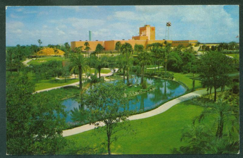 BUSCH GARDENS Birds Eye View Tampa Florida Vintage Postcard ...