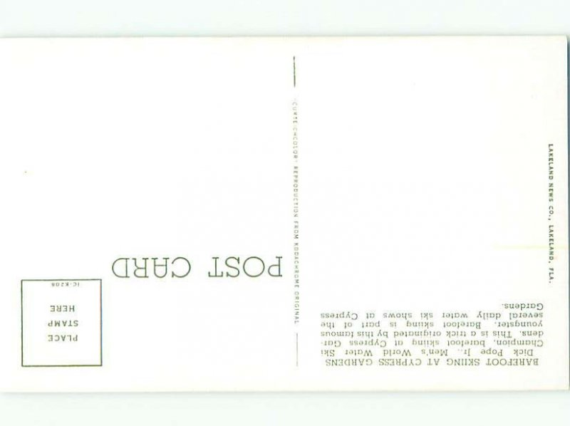 Pre-1980 gay interest CYPRESS GARDENS SKIER Winter Haven by Lakeland FL AF6005