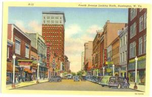 Linen of Fourth Ave Looking North Huntington West Virginia