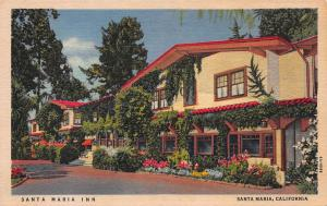 Santa Maria Inn, Santa Maria, California, Early Linen Postcard, Unused