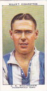 Wills Vintage Cigarette Card Association Footballers No 48 C K Willingham Hud...